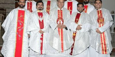 Newly Ordained Carmelite Priests Felicitated at Infant Mary Church, Bajjodi