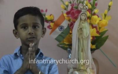 Online Marian song Competition held for children of Infant Mary Church, Bajjodi