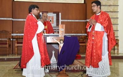 Good Friday observed at Infant Mary Church, Bajjodi