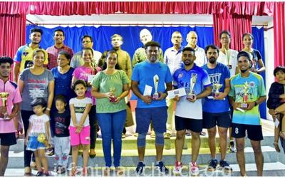 Badminton Tournament - 2020 held at Infant Mary Church, Bajjodi