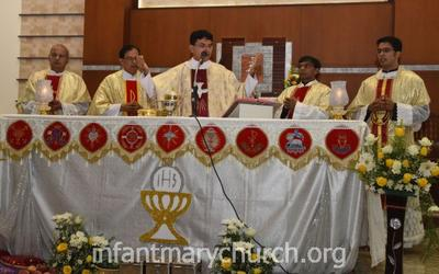 Maundy Thursday observed at Infant Mary Church, Bajjodi